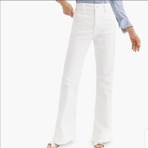 JCREW high-rise white flare jean. Size 27